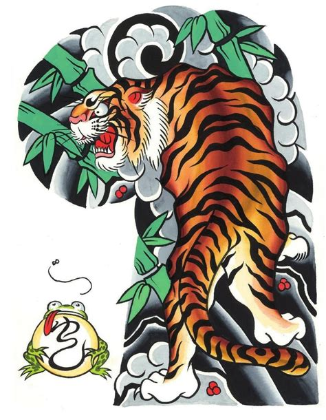 tattoo sleeve flash designs the gallery for gt traditional japanese tiger flash