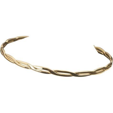vintage 14 karat gold bangle bracelet from 24kgreen on
