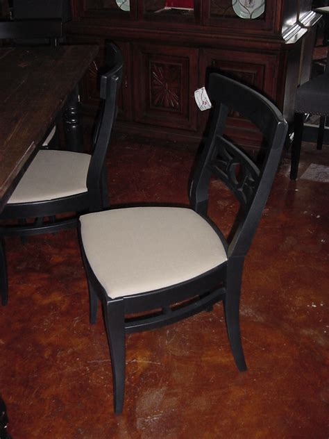 Wisconsin Chair Company by One Of Six 6 Matching Black Upholstered Wisconsin Chair