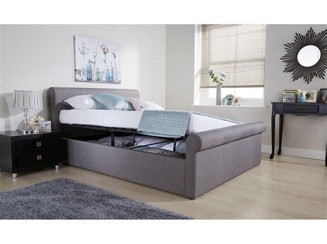 sleigh ottoman bed side lift ottoman sleigh bed hopsack fabric bronze