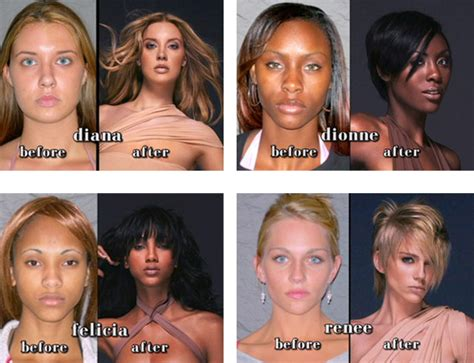15 best images about before after makeup makeovers on who got the best makeover on america s next top model