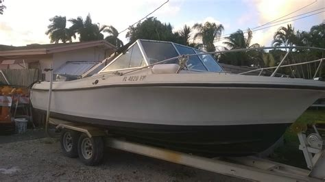 v boat wellcraft 21 ft cutty cabin deep v hull 1986 for sale for