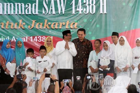Pro Dan Kontra Maulid Nabi ahok dan djarot hadiri perayaan maulid nabi muhammad saw foto 4 1681039 tribunnews