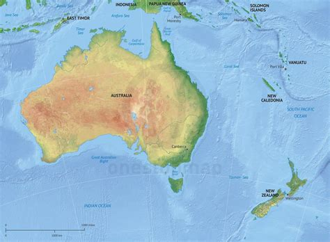 map of australia and new zealand physical and political map of new zealand images