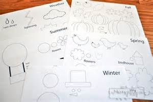 Diy felt board and printables to teach weather and seasons