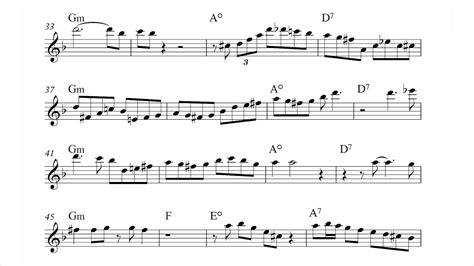 moanin alto saxophone transcription