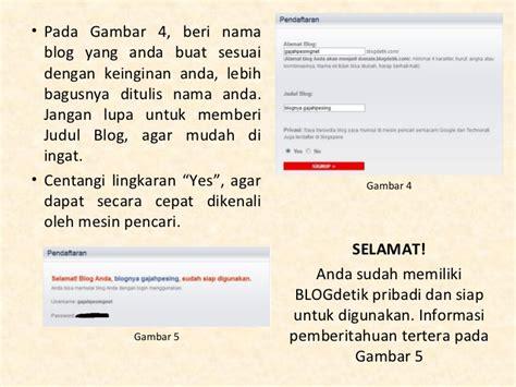 membuat blog mudah cara mudah membuat blog di blogdetik