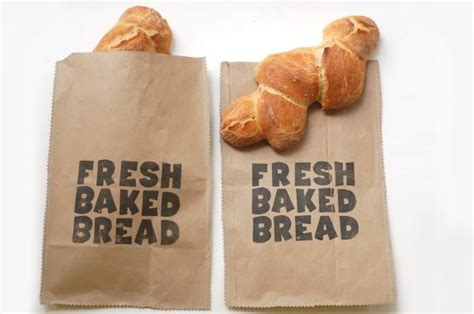 How To Make Paper Bread - paper bread bag tutorial
