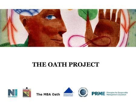 The Mba Oath by 1 What Is The Problem Presented To What Extent Did The