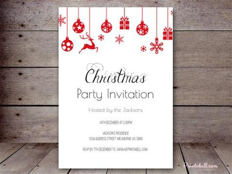 christmas invitation templates free editable editable invitations printabell create