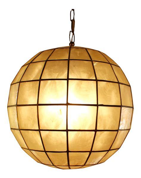 Capiz Shell Globe Pendant Light Chairish