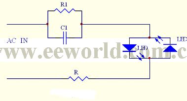 capacitor driving led capacitor buck driving led circuit 3 led and light circuit circuit diagram seekic