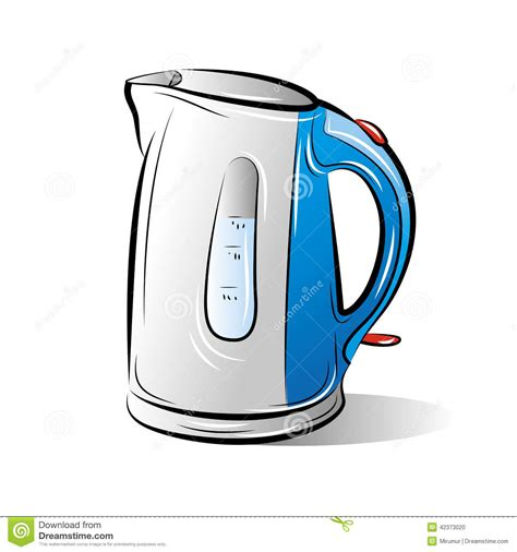Kitchen Program Design Free by Drawing Of The Blue Teapot Kettle Stock Vector Image
