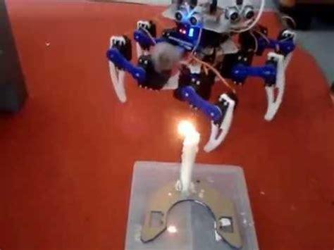 membuat robot pemadam robot hexapod pemadam api test 3 youtube
