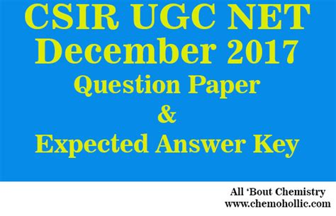 pattern of csir net paper csir net dec 2017 question paper and expected answer key