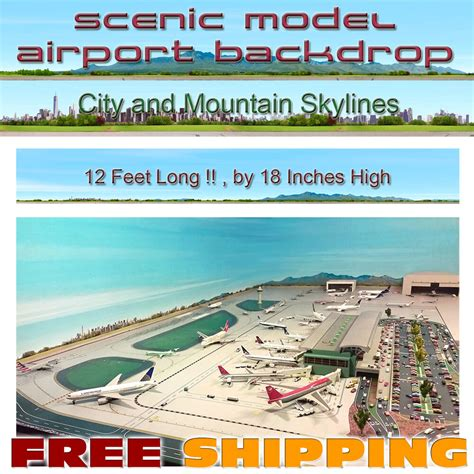 scale airport accessories background backdrop mat  color ebay