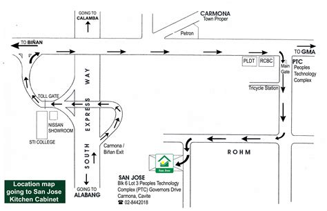 Directions To The Kitchen by San Jose Kitchen Cabinets Map And Directions
