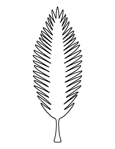 printable coconut tree template printable coconut tree leaf template