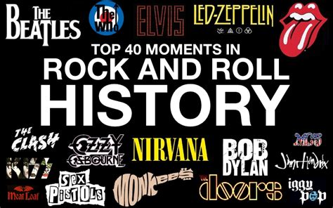 top 40 moments in rock and roll history