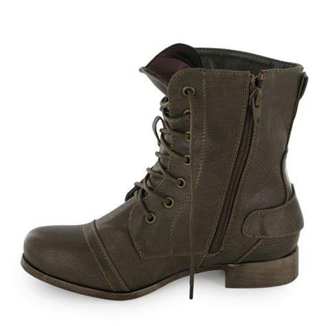 brown combat boots brown combat ankle boots size 12 6 ebay