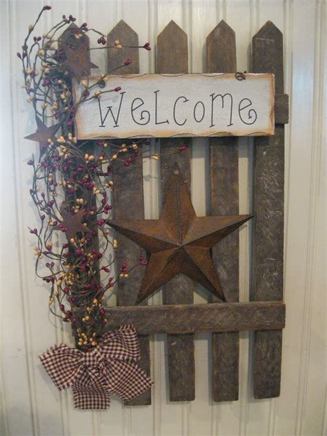 country primitive home decor wall fence primitives pinterest