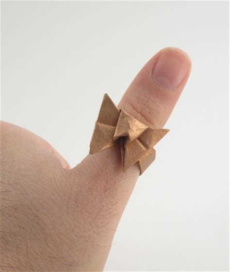 How To Make Origami Ring - origami rings gilad s origami page