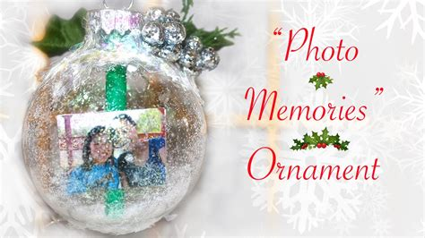 Handmade Photo Ornaments - diy quot photo memories quot ornament gift for someone special