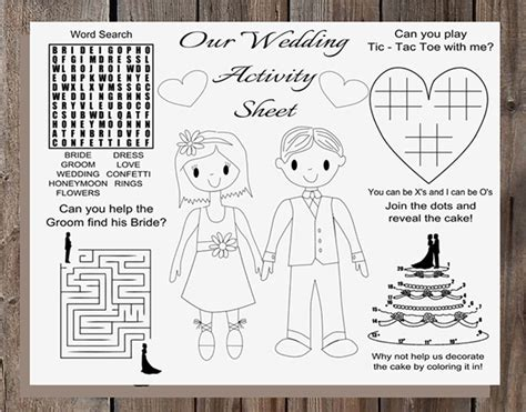 printable children s wedding activities 13 insanely fun and affordable wedding ideas from etsy
