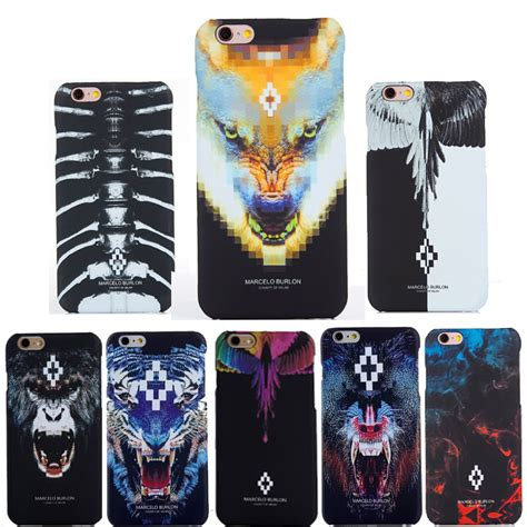 Marcelo Burlon 4 Tpu For Iphone 5 5s Se new for coque iphone 5s marcelo burlon cover tiger monkey fox pc coque funda for iphone 5