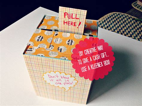 birthday presents for diy diy creative way to give a gift using a kleenex box