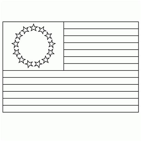 A Coloring Page Of The American Flag by Betsy Ross Coloring Page Coloring Home