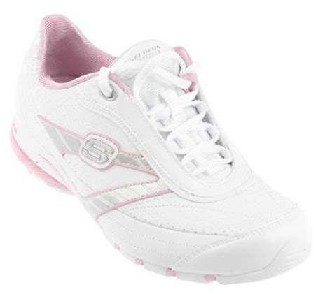 logo shoes on qvc skechers leather lace up logo shoes page 1 qvc