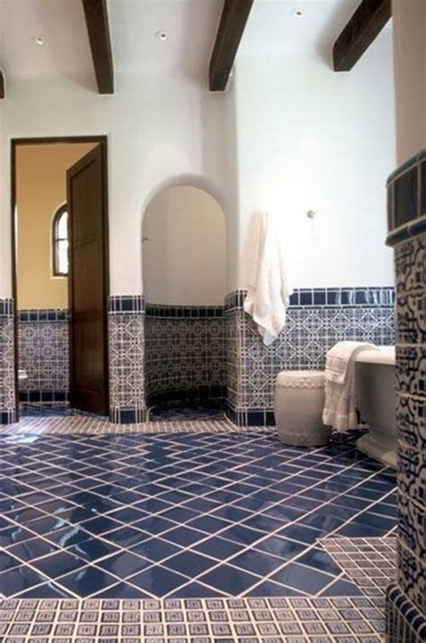 dark blue bathroom floor tiles ideas  pictures