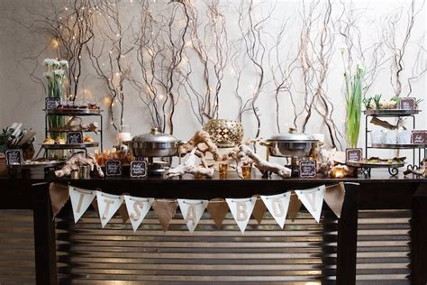 rustic themed events food table from a quot my little cinnabun quot rustic glam baby