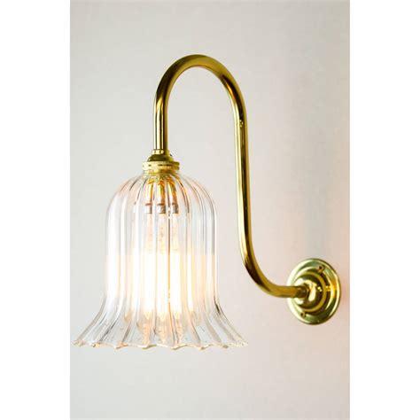 Handmade Glass Lighting - handmade ribbed trumpet glass wall light by glow lighting