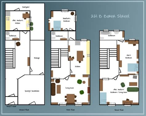 221b baker street floor plan 221b baker street by selenaguardi deviantart