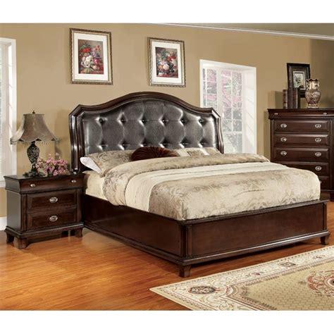 2 piece bedroom set furniture of america semptus 2 piece queen bedroom set in