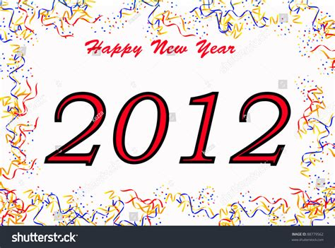 happy new year 2012 text sign stock photo 88779562