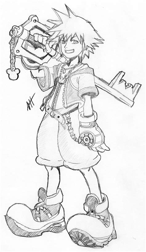 kingdom hearts coloring pages sora sora kingdom hearts by roadhouse hunter on deviantart