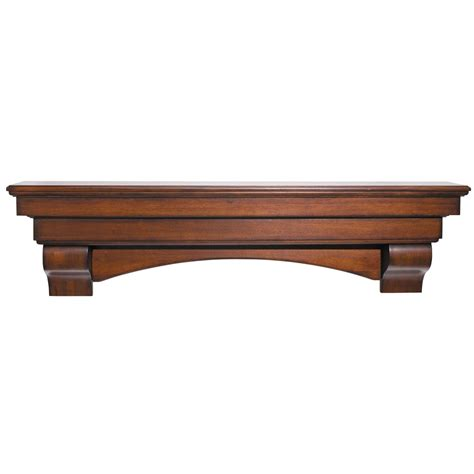 Fireplace Wood Mantel Shelf pearl mantels 495 72 70 auburn 72 inch arched wood fireplace mantel shelf cherry distressed finish