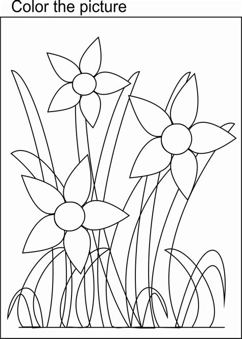 coloring pages of bunch of flowers bunch of flowers coloring page for kids