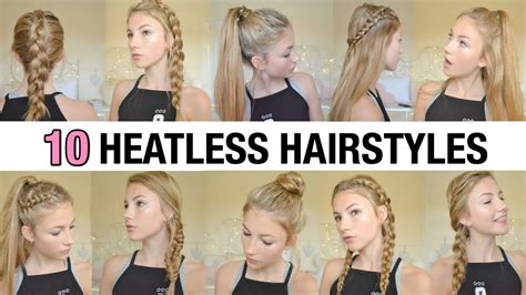 heatless hairstyles 10 back to school heatless hairstyles youtube
