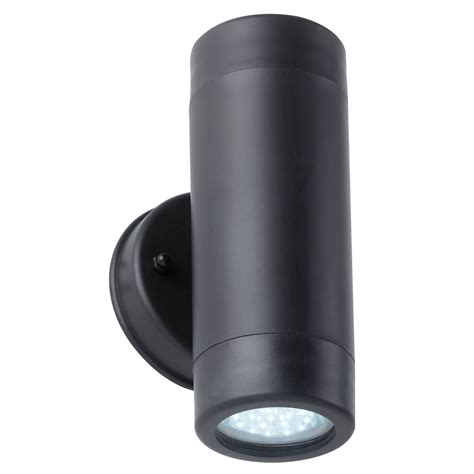 endon lighting black led outdoor wall up and light