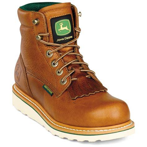 s deere 174 6 quot waterproof wedge sole boots with