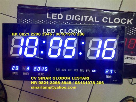 Clock Jam jam digital clock jh4622 warna biru