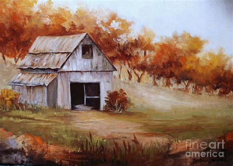 country paintings autumn in the country painting by barbara haviland