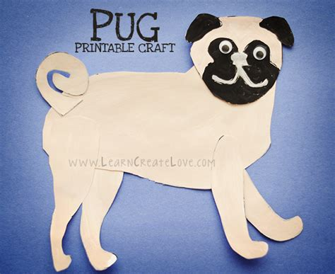 pug craft projects printable pug craft