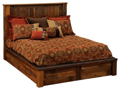 rustic king size bed barnwood platform bed reclaimed wood king size rustic beds