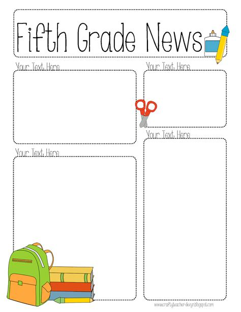 5th Grade Newsletter Template the crafty completely editable newsletter for all