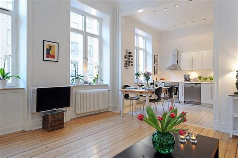 Open Floor Plan Apartments by Swedish 58 Square Meter Apartment Interior Design With